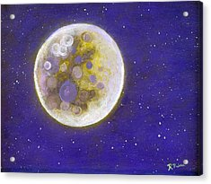 Purple Moon Acrylic Print by Robert Price