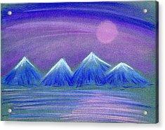 Purple Night 3 Acrylic Print by Hakon Soreide
