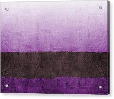 Purple On The Horizon- Art By Linda Woods Acrylic Print by Linda Woods