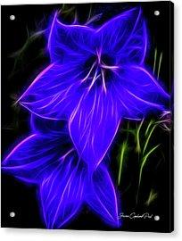 Purple Passion Acrylic Print by Joann Copeland-Paul
