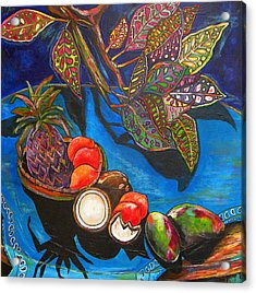 Purple Pineapple Acrylic Print by Patti Schermerhorn