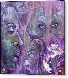Purple Rain Acrylic Print by Shadia Zayed
