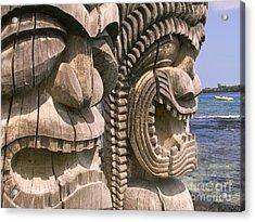 Puuhonua O Honaunau Acrylic Print by Ron Dahlquist - Printscapes