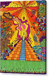 Pyramid Acrylic Print by Evan Purcell
