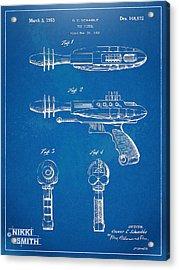 Pyrotomic Disintegrator Pistol Patent Acrylic Print by Nikki Marie Smith