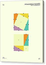Pythagorean Theorem Acrylic Print by Jazzberry Blue