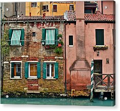 Quaint Venetian Home Acrylic Print by Frozen in Time Fine Art Photography