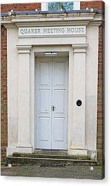 Quaker Meeting House Acrylic Print by Tom Gowanlock