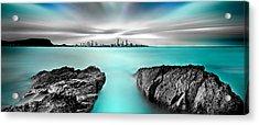 Quantum Divide Panorama Acrylic Print by Az Jackson