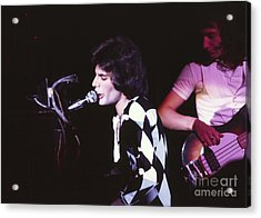 Queen 1975 Freddie Mercury Acrylic Print by Chris Walter