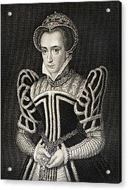 Queen Mary Aka Mary Tudor Byname Bloody Acrylic Print by Vintage Design Pics