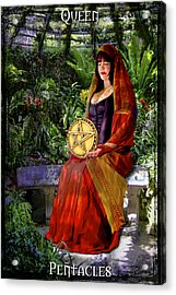 Queen Of Pentacles Acrylic Print by Tammy Wetzel