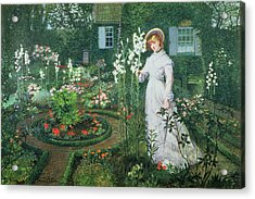 Queen Of The Lilies Acrylic Print by John Atkinson Grimshaw