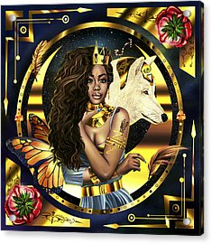 Queen Sza Illustration Acrylic Print by Pierre Louis