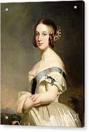 Queen Victoria Acrylic Print by Franz Xavier Winterhalter