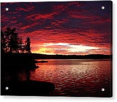 Quetico Sun Rise Acrylic Print by Peter  McIntosh