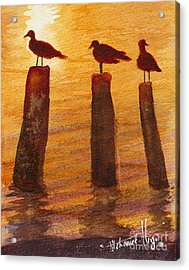 Queuing For Breakfast Acrylic Print by Mohamed Hirji