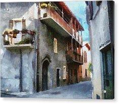 Quiet In Almenno San Salvatore Acrylic Print by Jeff Kolker