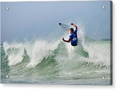 Acrylic Print featuring the photograph Quiksilver Pro France I by Thierry Bouriat