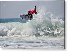 Acrylic Print featuring the photograph Quiksilver Pro France II by Thierry Bouriat