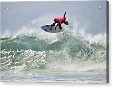 Acrylic Print featuring the photograph Quiksilver Pro France Iv by Thierry Bouriat
