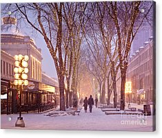 Quincy Market Stroll Acrylic Print by Susan Cole Kelly