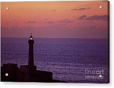 Rabat Morocco Lighthouse Acrylic Print by Antonio Martinho