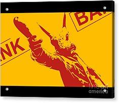 Rabbit Heist Acrylic Print by Pixel  Chimp