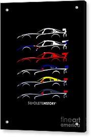 Racing Snake Silhouettehistory Acrylic Print by Gabor Vida