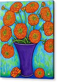 Radiant Ranunculus Acrylic Print by Lisa  Lorenz