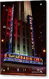 Radio City Music Hall Cirque Du Soleil Zarkana Acrylic Print by Lee Dos Santos