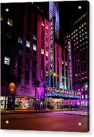 Acrylic Print featuring the photograph Radio City Music Hall by M G Whittingham