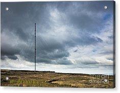 Radio Tower In Field Acrylic Print by Jon Boyes