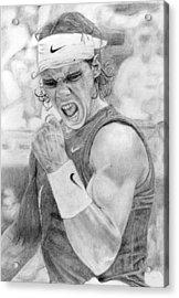 Rafael Nadal Acrylic Print by Alexandra Riley