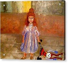 Rag Doll Baby Acrylic Print by Yolanda Terrell
