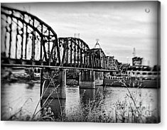 Railroad Bridge Acrylic Print by Scott Pellegrin