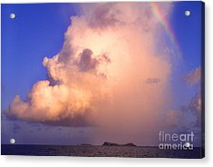 Rain Cloud And Rainbow Acrylic Print by Thomas R Fletcher