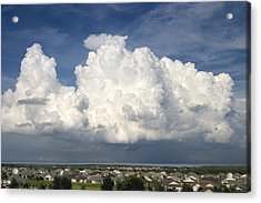 Rain Clouds Over Lake Apopka Acrylic Print by Carl Purcell