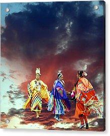 Rain Dance Two Acrylic Print by Irma BACKELANT GALLERIES