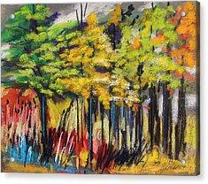 Rain In The Trees Acrylic Print by John Williams