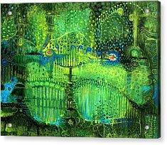 Rain Land II Acrylic Print by Lolita Bronzini