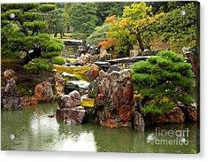 Rain On Kyoto Garden Acrylic Print by Carol Groenen