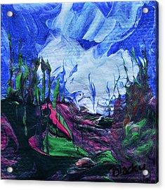 Rain On My Mountain Acrylic Print by Donna Blackhall