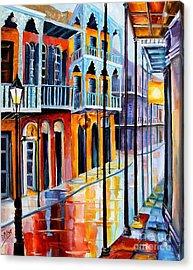 Rain On Royal Street Acrylic Print by Diane Millsap