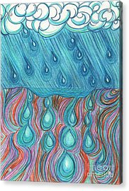 Rain Saturation By Jrr Acrylic Print by First Star Art