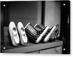 Rain Shoes Acrylic Print by Snap Shooter jp