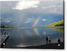 Rainbow 1 Acrylic Print by Marty Koch