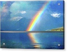 Rainbow 3 Acrylic Print by Marty Koch