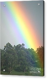 Rainbow And Misty Skies Acrylic Print by Erik Aeder - Printscapes