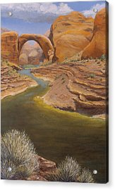 Rainbow Bridge Acrylic Print by Jerry McElroy